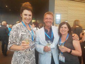 Julia Berger, Professor Ian Milsom and Cheryl Parkin.