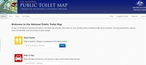 Toilet map